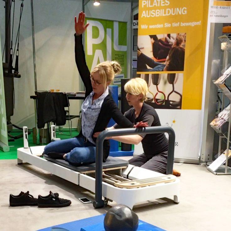 Pilatestraining auf der Therapie Leipzig Messe für Physiotherapeuten • Balanced Body • Allegro