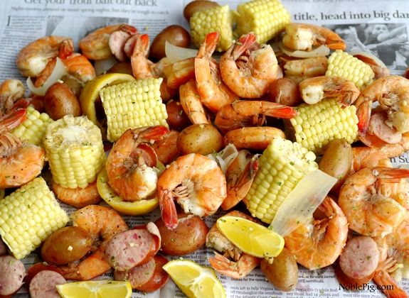 Low Country Shrimp Boil from NoblePig.com