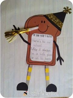 """Cutest little New Years craft!!! New Years """"toast""""!!! Adorable bulletin board!!"""