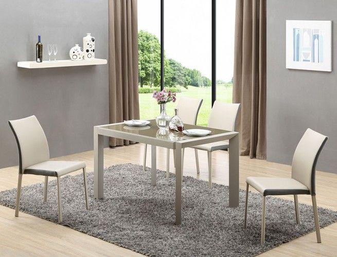Jedálenský stôl Arabis je výnimočný stôl, ktorý vás prekvapí svojím netradičným a moderným dizajnom. Dodáva sa v svetlej kombinácii dekoru sklo, svetlo hnedá...