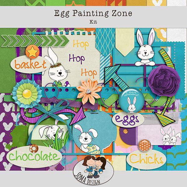 SoMa Design Egg Painting Zone Kit