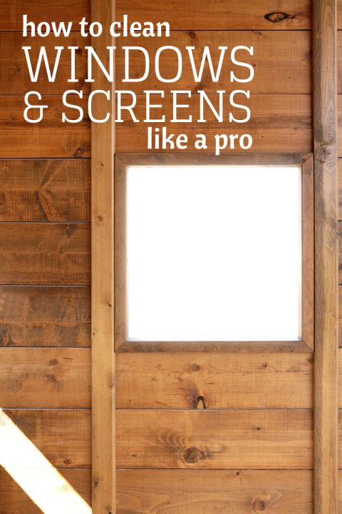 How to clean windows and screens like a pro household for How to clean windows