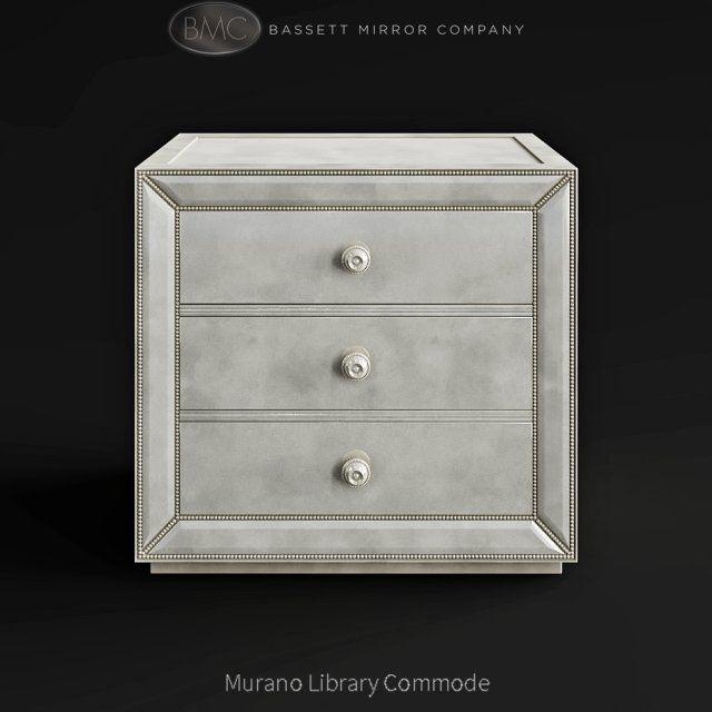 Bassett Mirror Company Murano Library Commode 3D Model .max .c4d .obj .3ds .fbx .lwo .stl @3DExport.com by vizall
