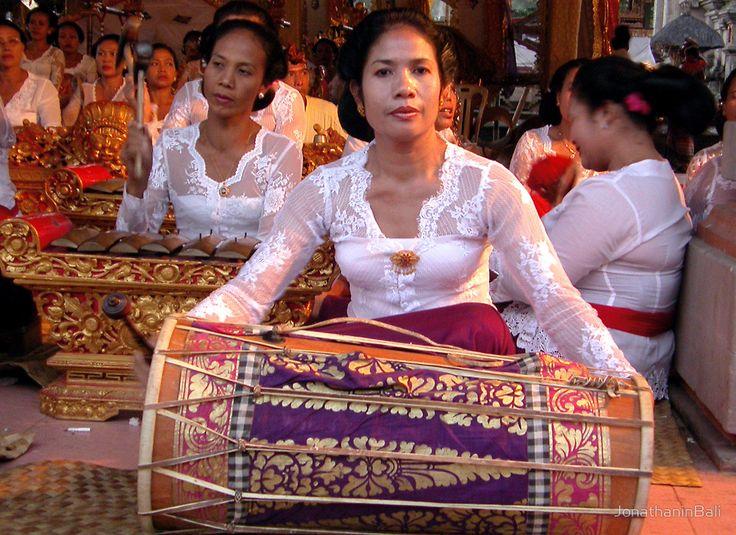 Atypical all-woman's Balinese gamelan, Ubud, Bali by JonathaninBali