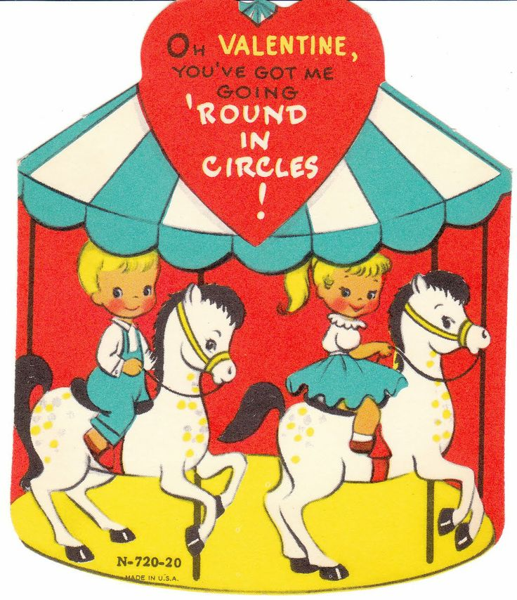 Carousel Valentine, 1960s. From the Birdhouse Books blogspot.