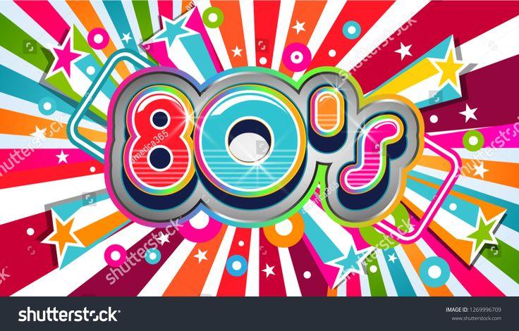 80s Vintage Party Background Illustration Party 80s Vintage Background Vector Design I