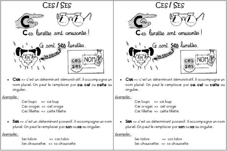 Homophones grammaticaux : ces / ses