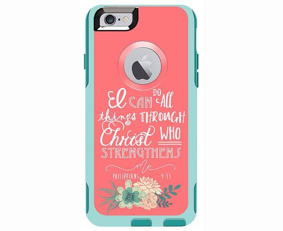 Philippians 4:13 Monogrammed Otterbox Commuter Case for iPhone 6/6s PLUS, iPhone 6/6s, iPhone 5c, iPhone 5/5s, Galaxy S5, Galaxy Note 4
