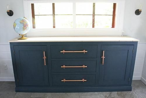 Unique Chalky Finish Sideboard Makeover - Project by DecoArt