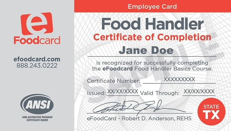online food: riverside county online food handlers card
