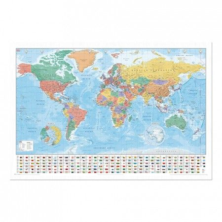 11 best the global room images on pinterest wall maps amazon and world map with facts flags pinboard cork board with pins iposters gumiabroncs Images