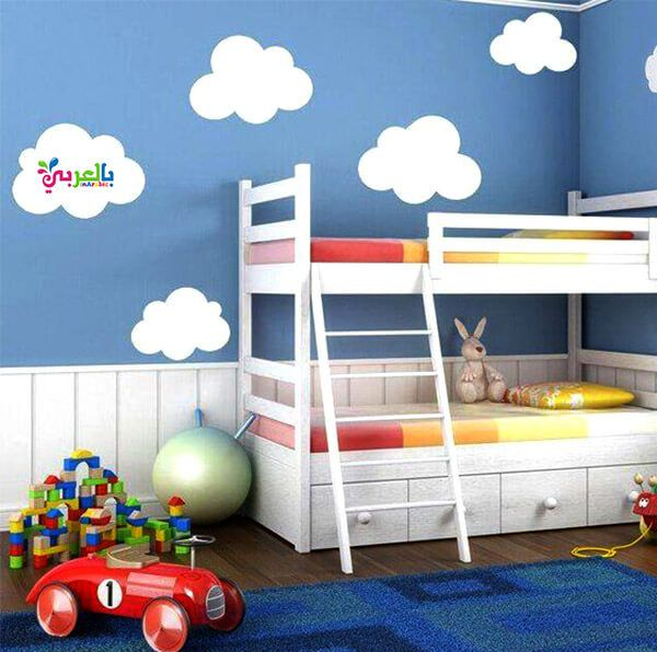 ديكورات غرف نوم اطفال مودرن 2020 ديكورات حوائط بالعربي نتعلم Kids Bunk Beds Playroom Wall Decals Kid Beds