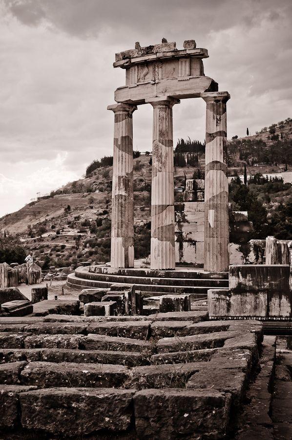 Tholos, Temple of Delphi, Greece