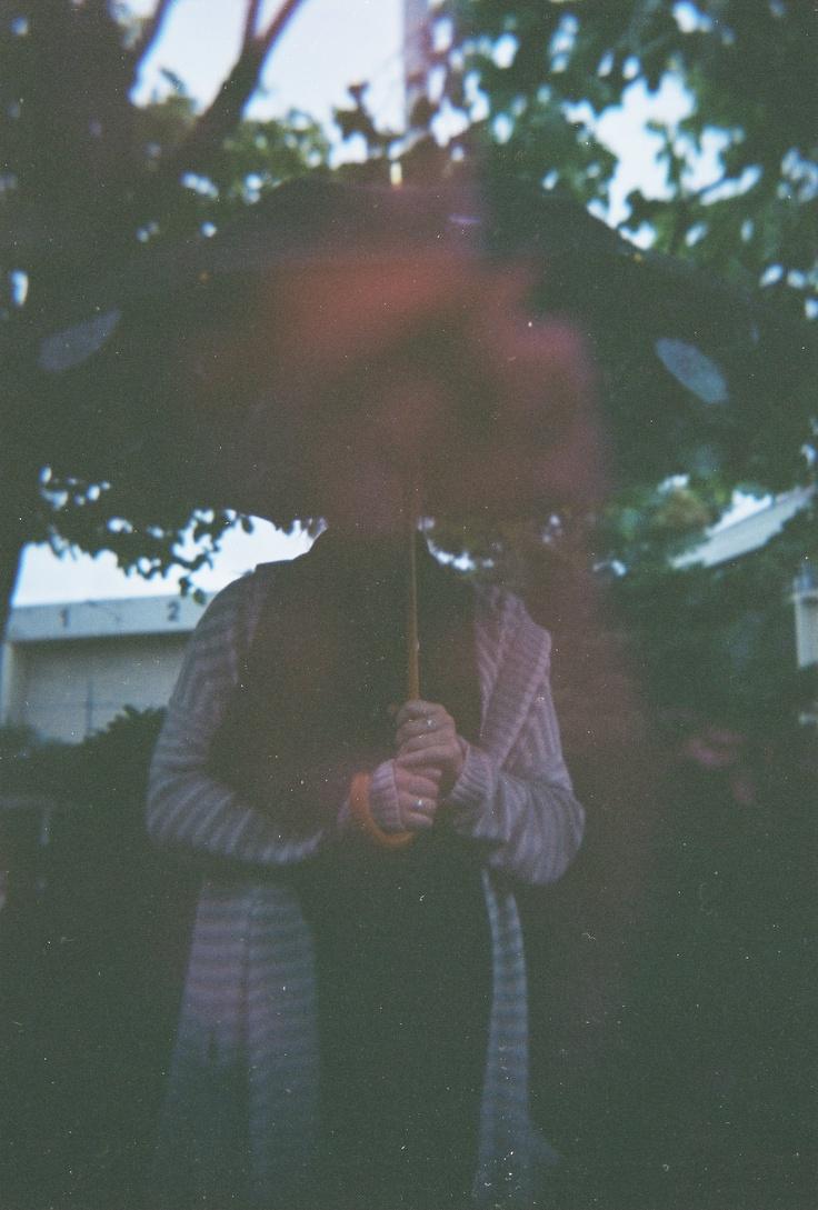 Flower umbrella, multiply exposure photo on holga 120mm