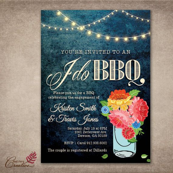 O'Baby Brand I Do BBQ Invitations for BBQ Couples by OBabyBBQ
