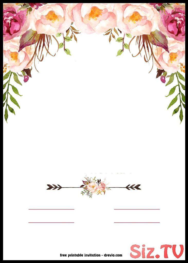 Kostenlose Druckbare Boho Chic Flower Babyparty Einladungsvorlage Kostenlose D Baby Shower Baby Einladungsvorlage Blumeneinladung Vintage Einladungen