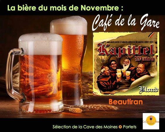 Bière Kapittel Café de la Gare Bière du mois