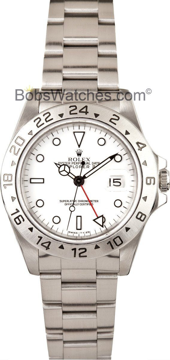 Rolex Explorer II Men's Stainless Steel Watch 16570 - http://www.bobswatches.com/used-mens-rolex-explorer-ii-mens-stainless-steel-watch-16570-3.html