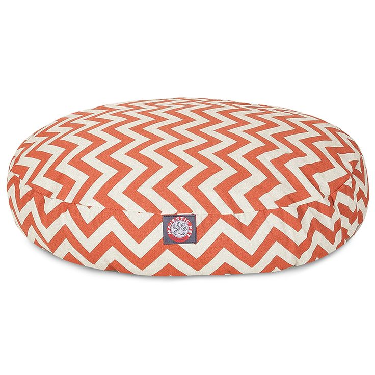 Majestic Pet - chevron round dog bed     #dogs #dogbed #majesticpet #pets #pethealth #bed #doglovers #dogmom