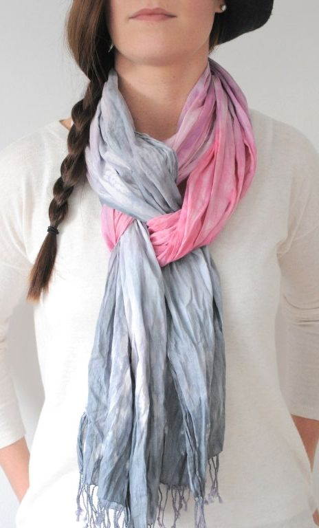 Pastel Cotton Crinkle Scarf hand painted