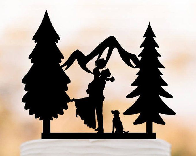 Outdoors Wedding Cake Topper Mountain With 2 Cats Cake Topper Etsy Wedding Themes Outdoor Silhouette Cake Topper Wedding Cake Toppers