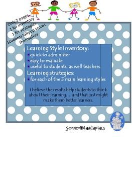 Learning Style Inventory with Learning Strategies for Each Style