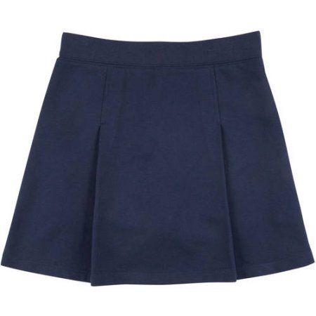 George School Uniforms Girls Knit Scooter Skirt, Size: 10, Blue