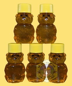 mini honey bears - party favors