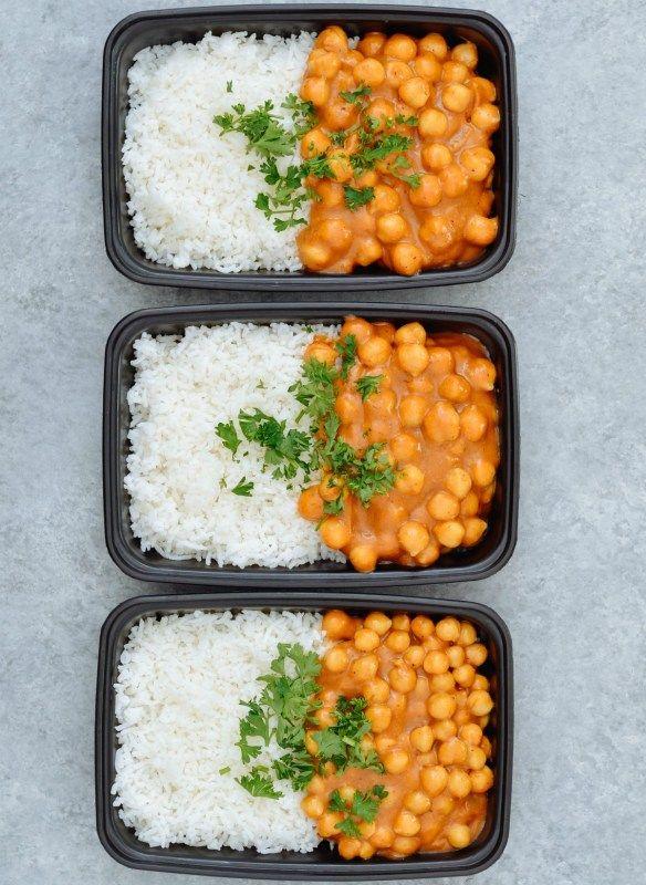 Vegan Chickpea Curry Basmati Rice Meal Prep Meal Prep On Fleek Recipe Lunch Recipes Healthy Chickpea Curry Healthy Lunch Meal Prep