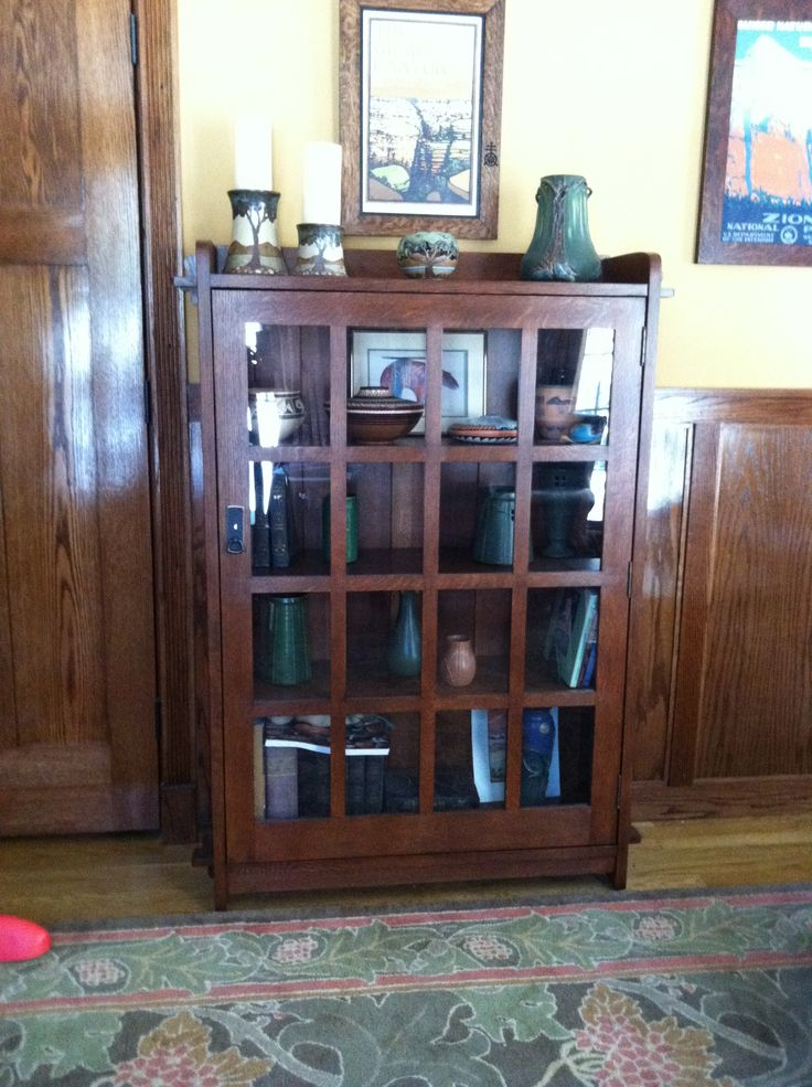 Stickley bookcase stickley craftsmen arts and crafts for Craftsman style bookcase plans