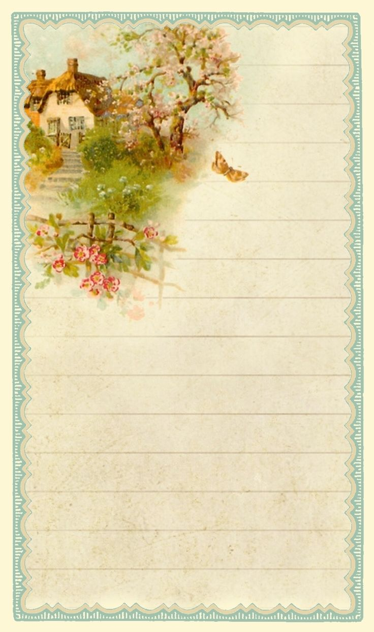Rewards of the simple life...  English cottage journal card ~ 3 x 5 inches