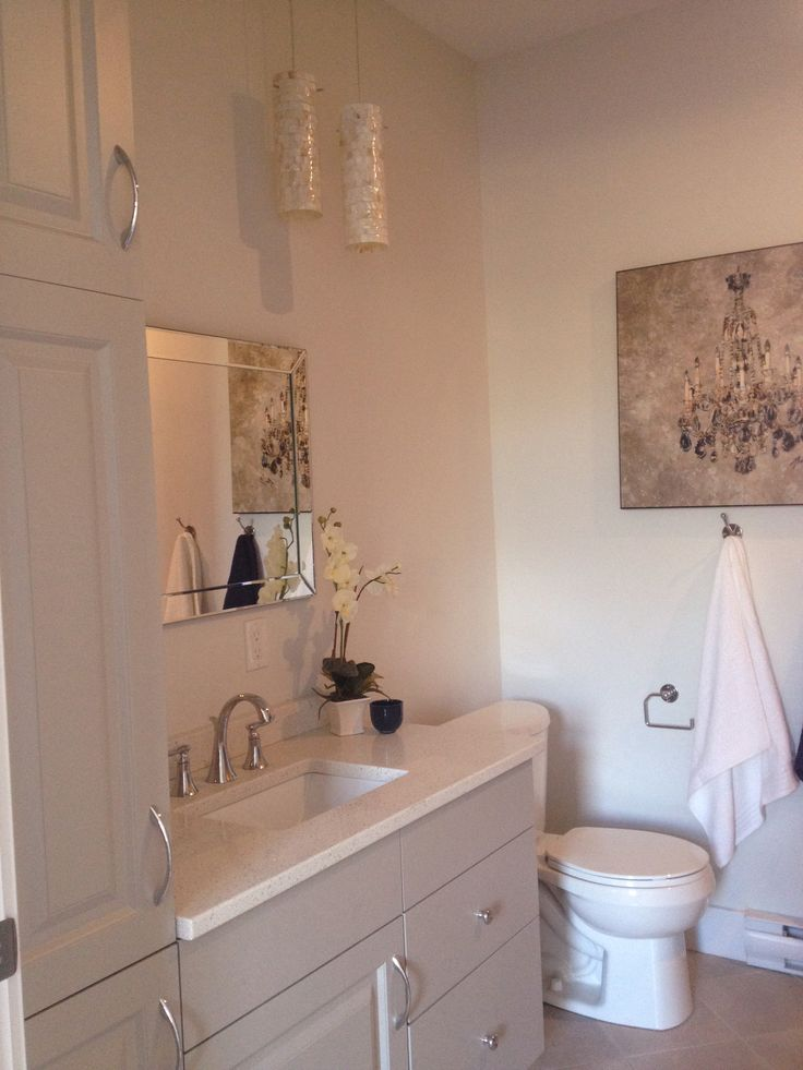 Grey bathroom www.revelstaginganddesign.com