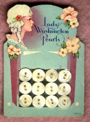 Lady Washington Pearl Buttons