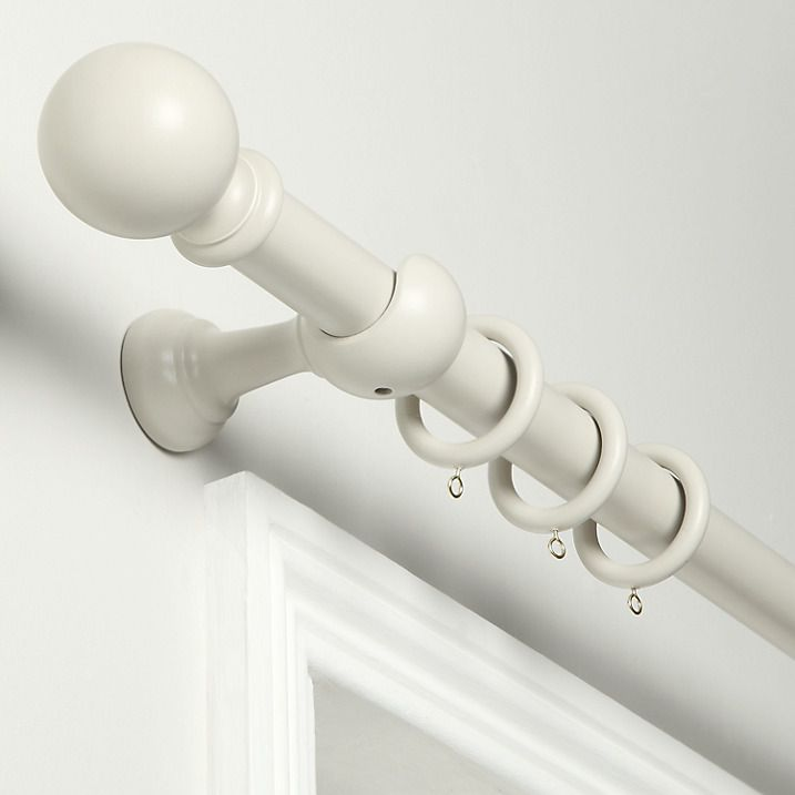 Buy John Lewis French Grey Curtain Pole, L120 x Dia.35mm Online at johnlewis.com