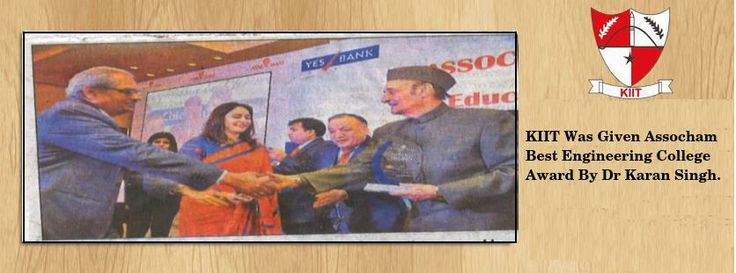 #KIIT was given Assocham best #Engineering college award by Dr Karan singh. www.kiit.in