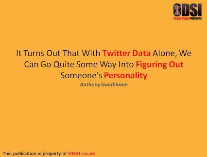 Big data in social media