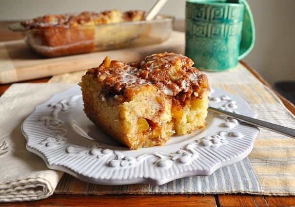 Little B Cooks: Chronicles from a Vermont foodie: Peach Coffee Cake