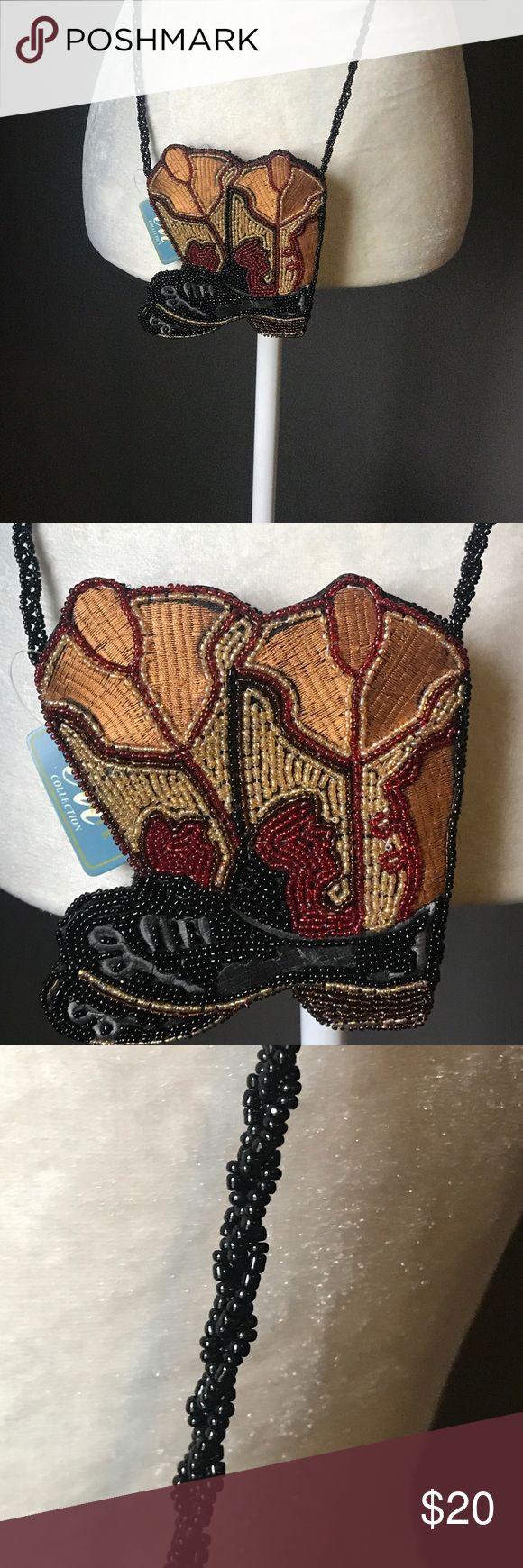 C&W nwt Beaded cowboy boot change purse Perfect brand new beaded cowboy boot cross body change purse Bags Crossbody Bags