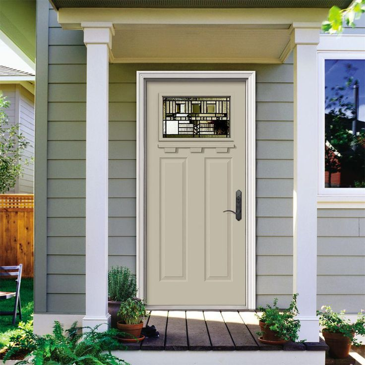 Jeld wen in x in 1 lite craftsman oak park for Jeld wen exterior doors