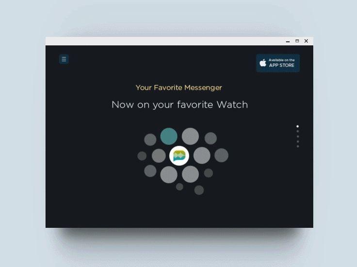 Messenger Watch UI / Landing Page by Ehsan Rahimi