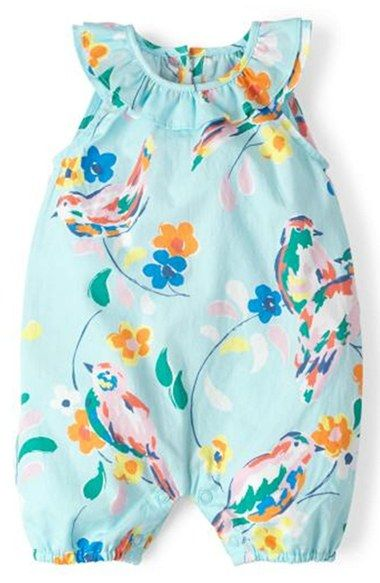 Mini Boden Floral Print Romper (Baby Girls) available at #Nordstrom