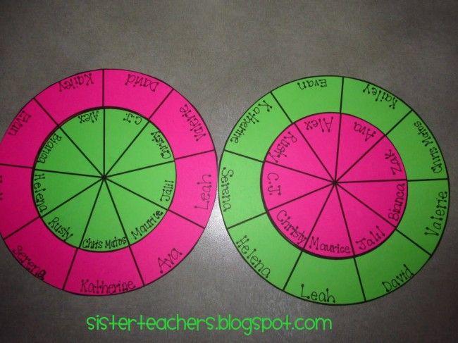 Picking Partners Made Simple {free printable} - Teach Junkie