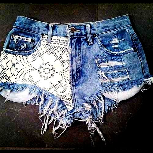 DIY ::Lace Shorts can't wait to make these!!!!: Shorts Shorts, Cute Shorts, Lace Jeans, Jeans Shorts, Denim Shorts, Summer Shorts, Lace Shorts, Cut Off, Summer Clothing