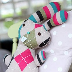 Learn how to turn an old sweater into the cutest Easter Bunny softie in this easy step-by-step tutorial.