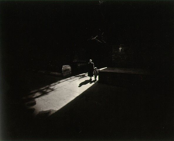 Harry Callahan: Eleanor and Barbara,  Chicago, 1953. Influenced by Ansel Adams and László Moholy-Nagy.