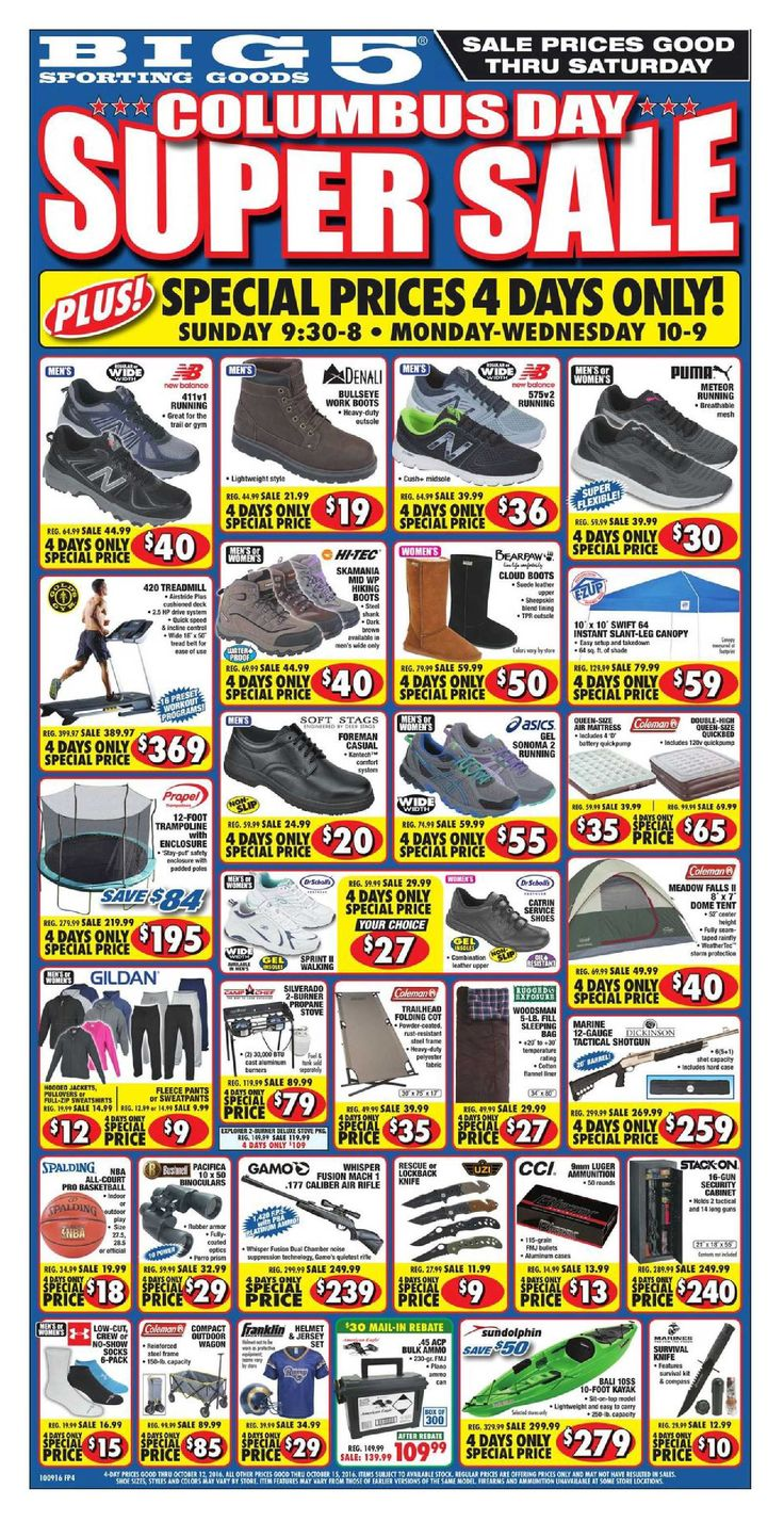 Big 5 Ad October 28 - November 3, 2016 - http://www.olcatalog.com/sports-toys/big-5-weekly-ad.html