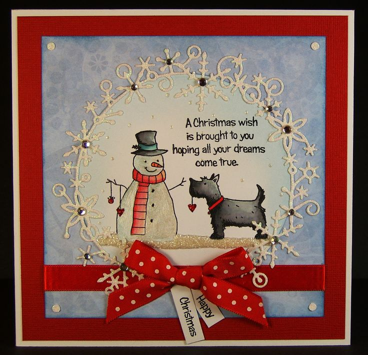 Designed by Allison Hugill using Little Claire Christmas Scotties stamp set