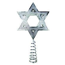 Kurt S Adler Silver Hanukkah Tree Topper #chrismukkah