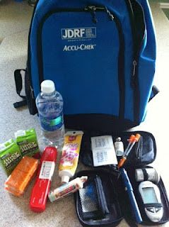 All the supplies that must be taken everywhere with a Type 1 Diabetic - Crazy trying to fit it all into a small case or purse! :)