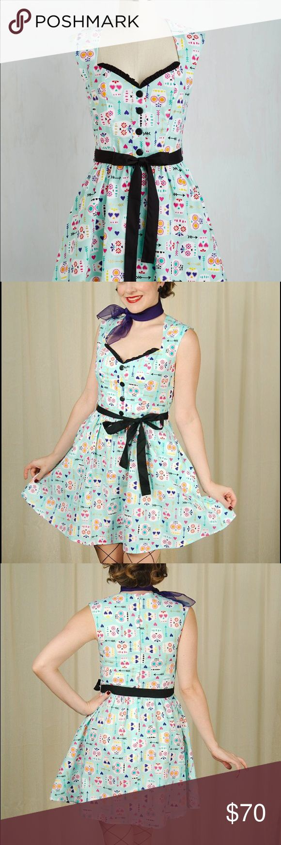 Modcloth Quick on your sweet sugar skull dress By Folter - NWOT - Size Large Modcloth Dresses Mini